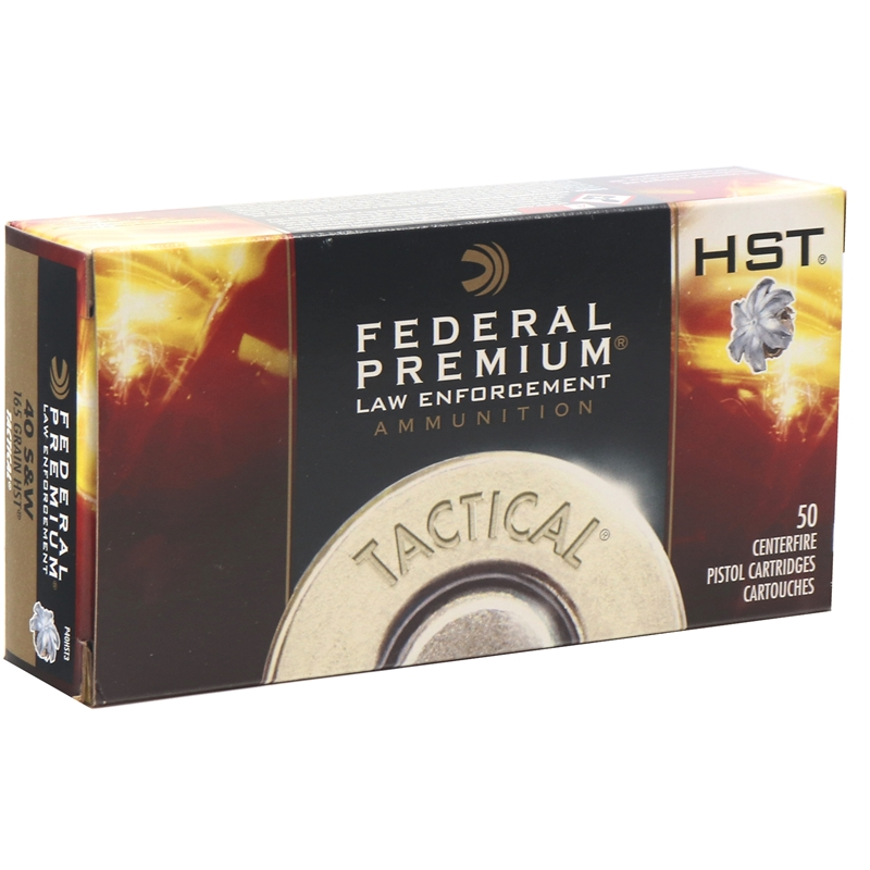 Federal Law Enforcement 40 S&W Ammo 165 Grain HST JHP