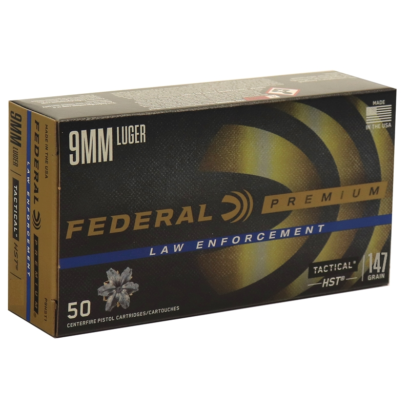 Federal HST LE 9mm Luger Ammo 147 Grain JHP