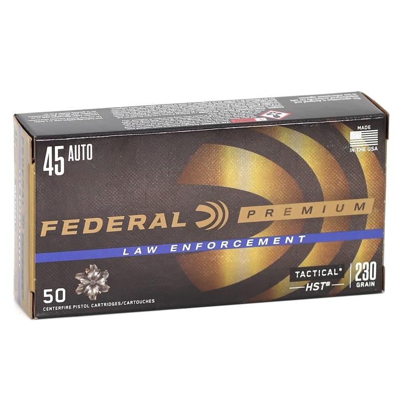 Federal Law Enforcement 45 ACP AUTO Ammo 230 Grain HST JHP