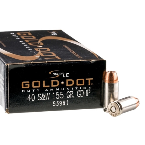 Speer Gold Dot LE Duty 40 S&W Ammo 155 Grain JHP