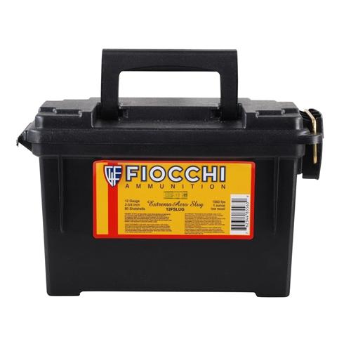 "Fiocchi HV 12 Gauge 2 3/4"" 1oz Aero Rifled Slugs 80 Rds Can"