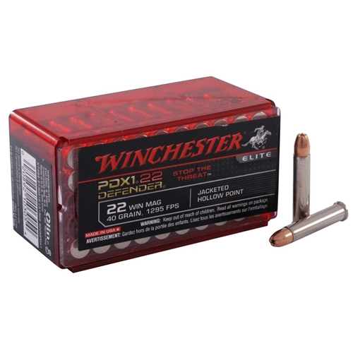 Winchester PDX1 22 WMR 40 Grain Jacketed Hollow Point