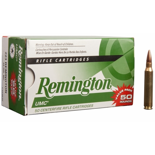 Remington UMC 223 Remington Ammo 55 Grain FMJ VP