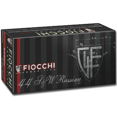 Fiocchi 44 Russian Ammo 247 Grain Lead Round Nose
