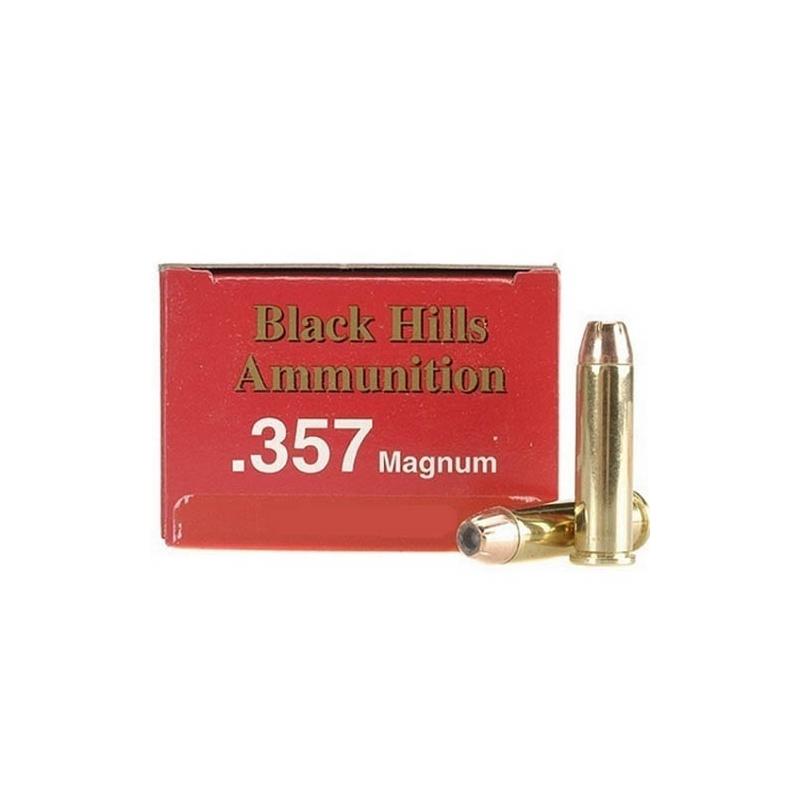 Black Hills 357 Magnum Ammo 158 Grain JHP