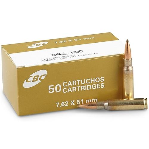 Magtech CBC Ammo 7.62x51mm NATO Ammo 147 Grain Full Metal Jacket