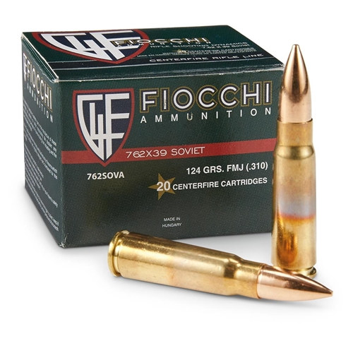 Fiocchi Shooting Dynamics 7.62x39mm Ammo 123 Grain FMJ