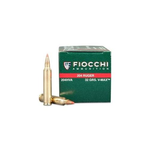 Fiocchi Extrema 204 Ruger 32 Grain Hornady V-Max Ammunition