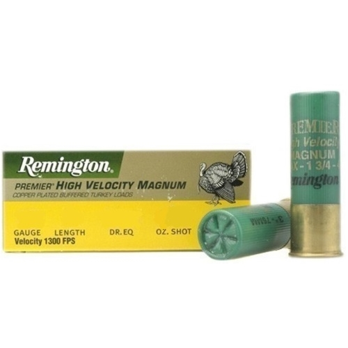 "Remington HV Magnum Turkey 12 Gauge Ammo 3"" 1 3/4oz #4Shot CPL"