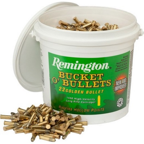 Remington Golden Bullet 22 Long Rifle 36 Gr. HP Bucket of Bullets