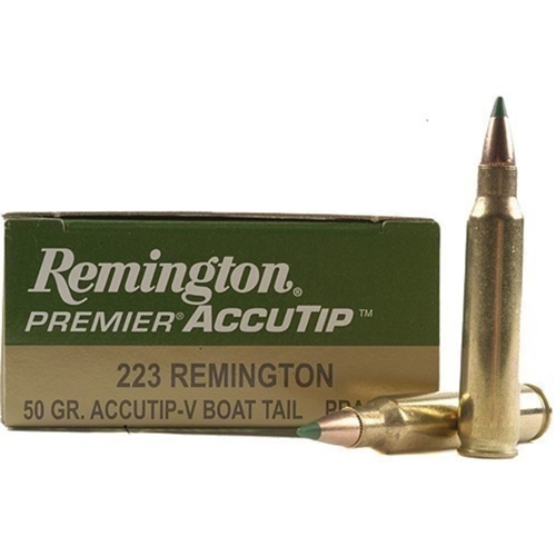 Remington Premier 223 Remington Ammo 50 Gr Accutip-V Boat Tail