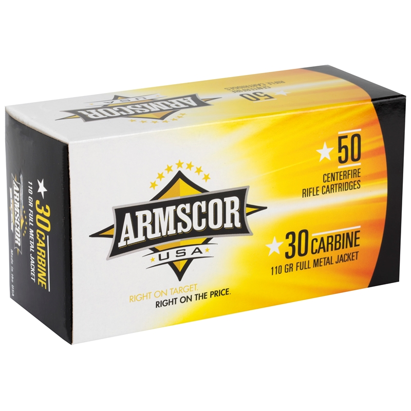 Armscor USA 30 Carbine Ammo 110 Grain Full Metal Jacket