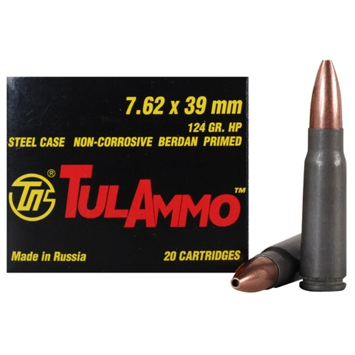 Tula Ammo 7.62x39mm Russian 124 Grain Jacketed Hollow Point
