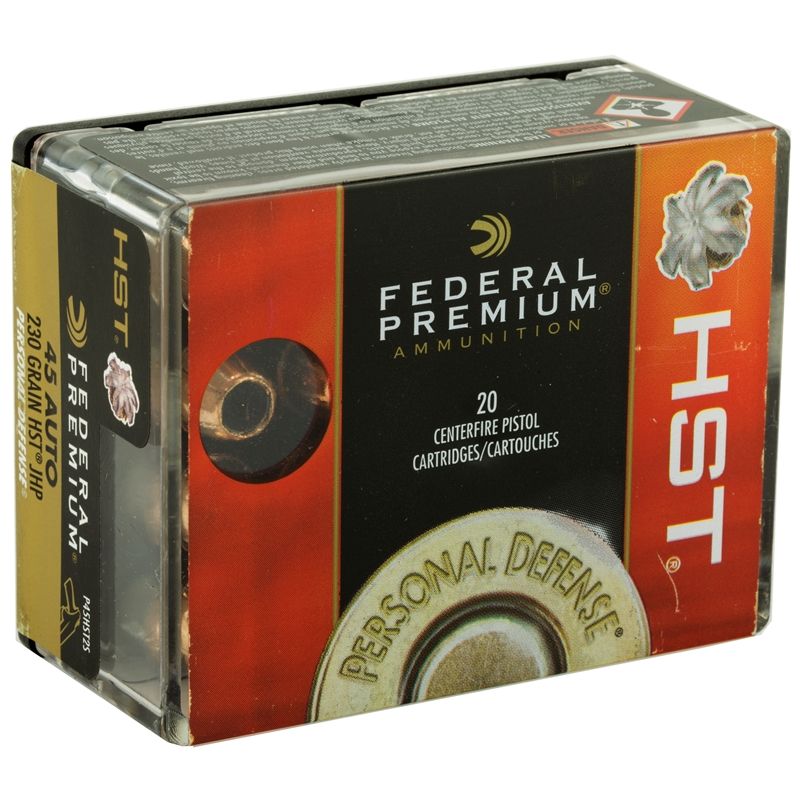 Federal Personal Defense 45 ACP AUTO Ammo 230 Grain HST JHP