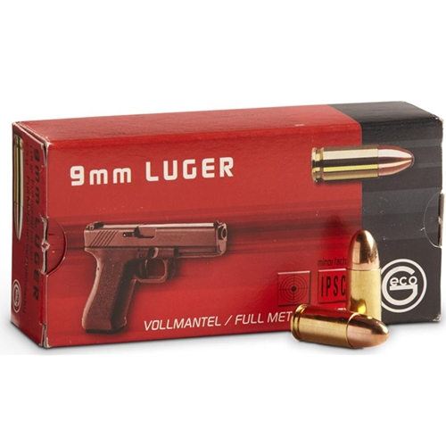 Geco 9mm Luger Ammo 115 Grain Full Metal Jacket