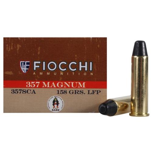 Fiocchi Cowboy Action 357 Magnum Ammo 158 Grain LRNFP