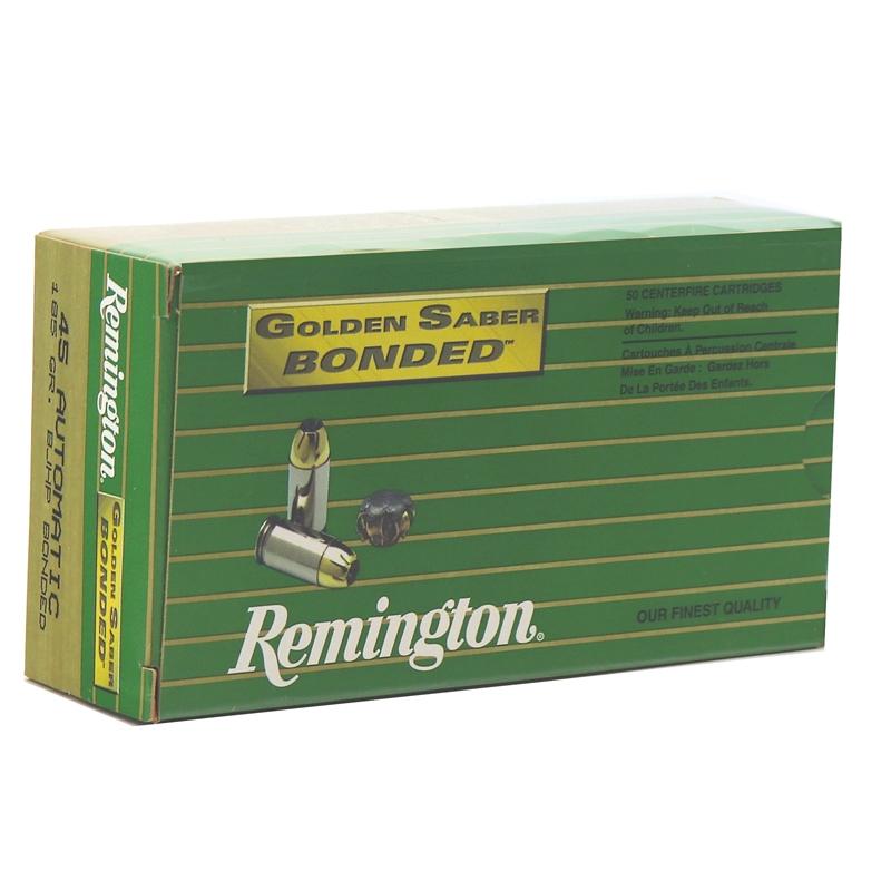 Remington Golden Saber LE 45 ACP AUTO Ammo 185 Grain Bonded BJHP