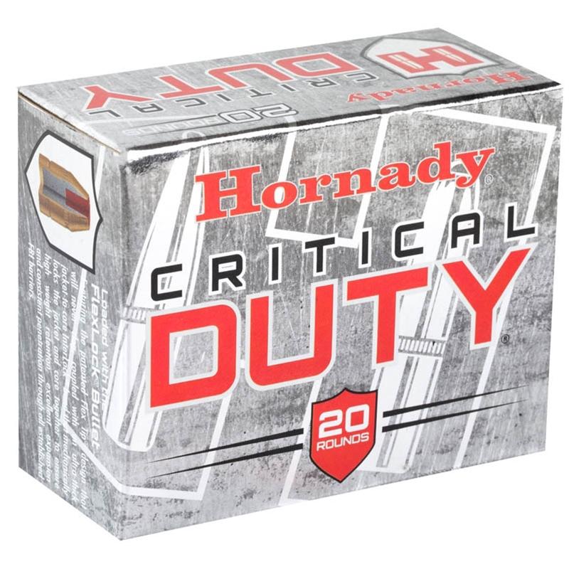 Hornady Critical Duty 45 ACP Auto Ammo +P 220 Gr FlexLock