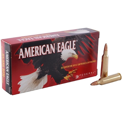 Federal American Eagle 22-250 Remington Ammo 50 Grain JHP