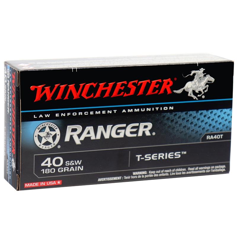 Winchester Ranger 40 S&W 180 Grain T-Series Bonded JHP