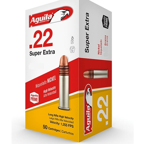 Aguila SuperExtra 22 Long Rifle Ammo 38 Grain Copper Plated HP