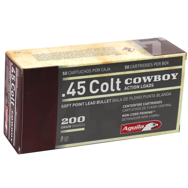 Aguila 45 Long Colt Ammo 200 Grain Round Nose Flat Point