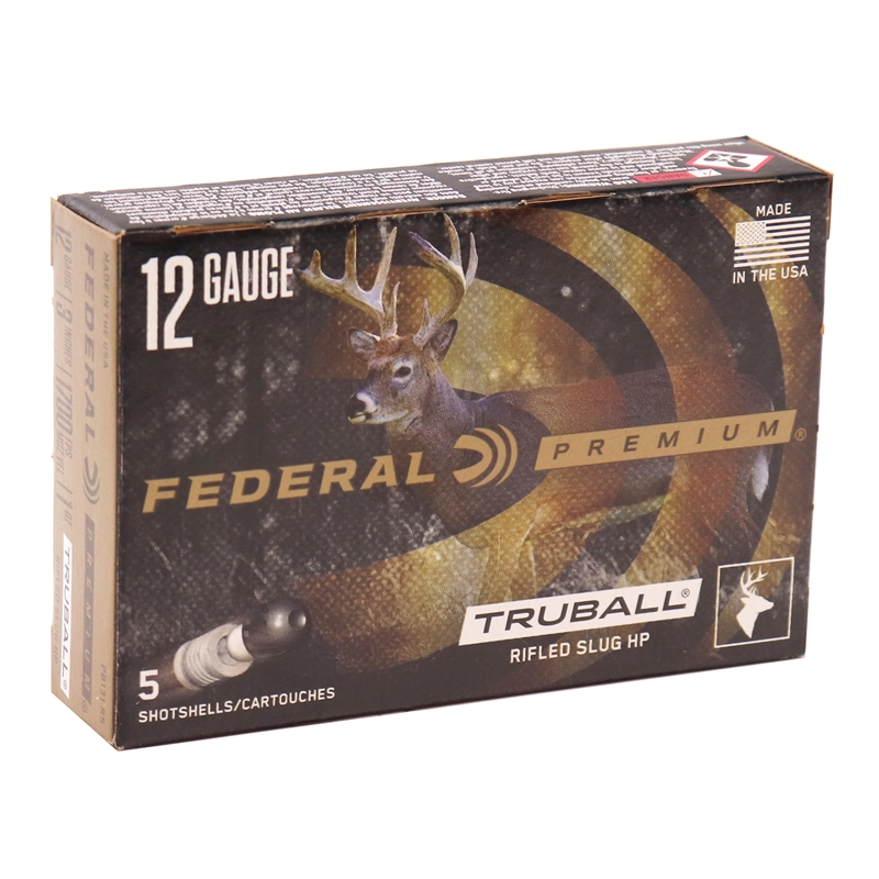 "Federal Vital-Shok 12 Gauge Ammo 3"" 1 oz TruBall HP RS"