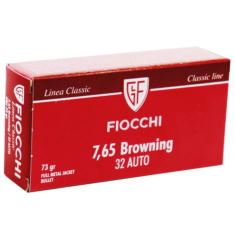 Fiocchi Shooting Dynamics 32 ACP AUTO Ammo 73 Grain FMJ