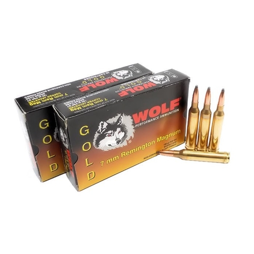 Wolf Gold 7mm Remington Magnum Ammo 160 Grain Soft Point