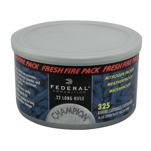 Federal Champion Fresh Fire 22 LR Ammo 36 Grain PLHP 325 Rds