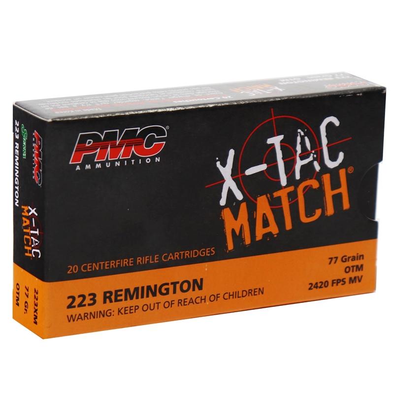 PMC X-Tac Match 223 Remington Ammo 77 Grain OTM