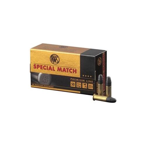 RWS Match 22 Long Riffle 40 Grain Lead Round Nose Ammunition