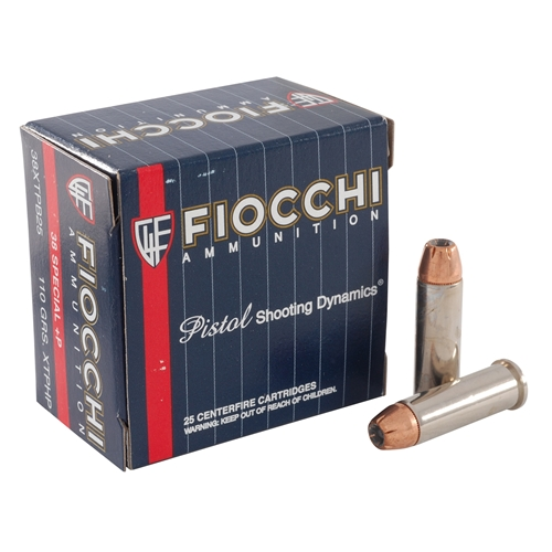 Fiocchi Extrema 38 Special Ammo +P 110 Gr Hornady XTP JHP