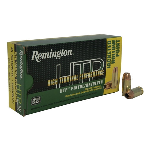 Remington HTP 45 ACP Auto 230 Grain Jacketed Hollow Point