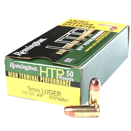 Remington HTP 9mm Luger Ammo 115 Grain JHP