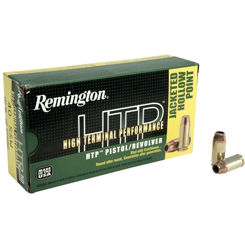 Remington HTP 40 S&W 180 Grain Jacketed Hollow Point