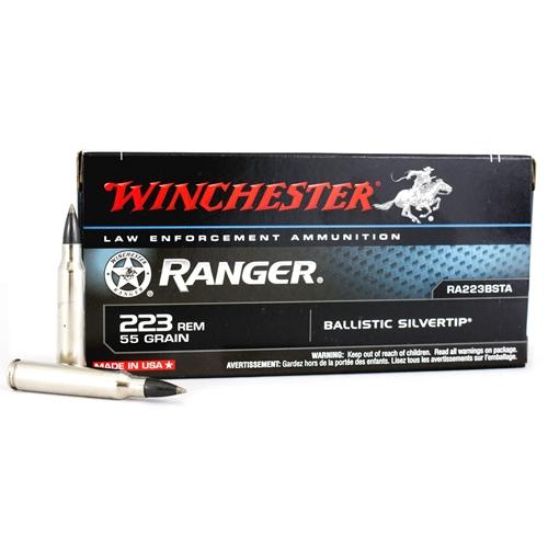 Winchester Ranger 223 Remington 55 Grain Ballistic Silvertip