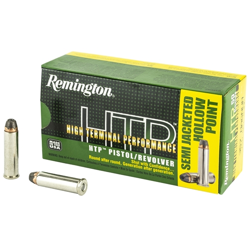 Remington HTP 357 Magnum Ammo 158 Grain Semi JHP