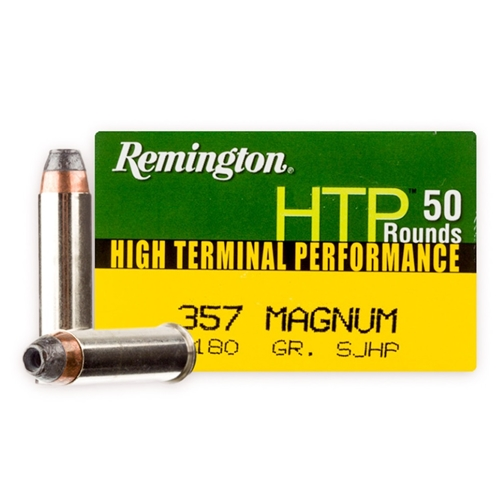 Remington HTP 357 Magnum Ammo 180 Grain Semi JHP