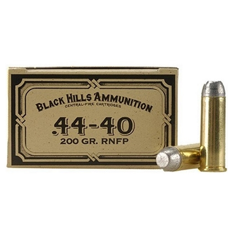 Black Hills Cowboy Action 44-40 WCF Ammo 200 Grain LFN
