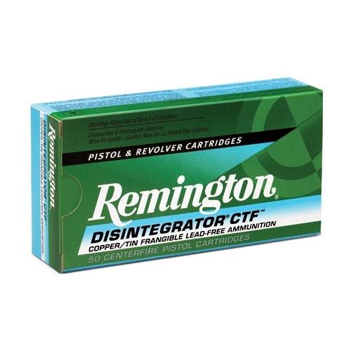 Remington Disintegrator 357 SIG Ammo 100 Gr Lead Free Frangible