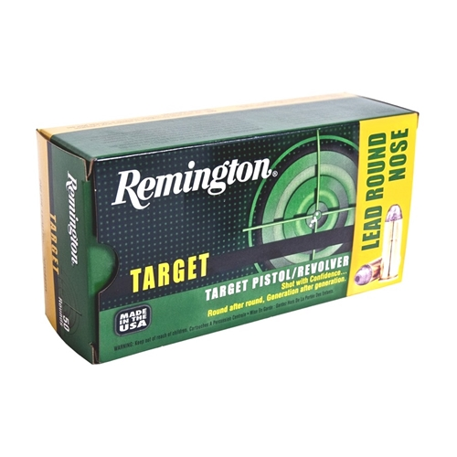 Remington Target 38 Special Ammo 158 Grain Lead Round Nose