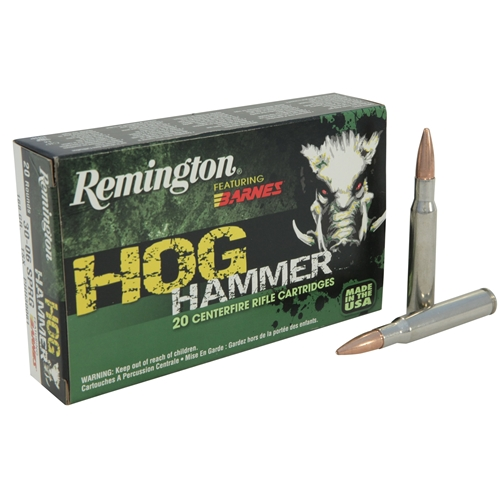 ReRemington Hog Hammer 308 Winchester 168 Grain Barnes TSX HP