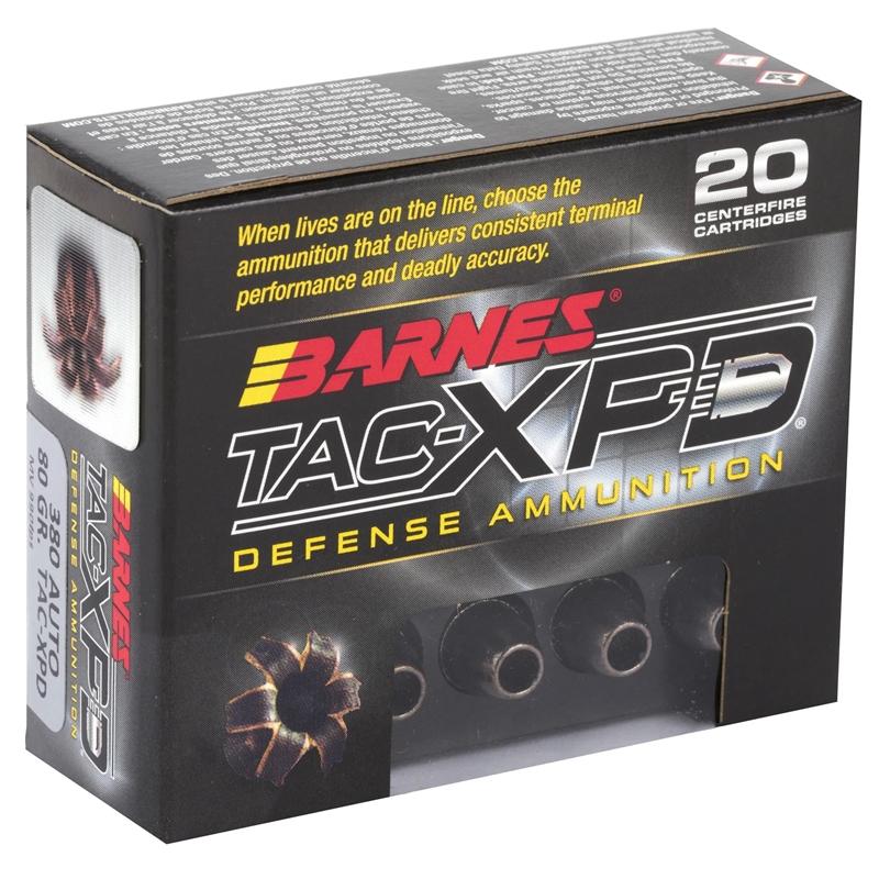 Barnes TAC-XPD 380 ACP Ammo 80 Grain TAC-XP HP Lead Free