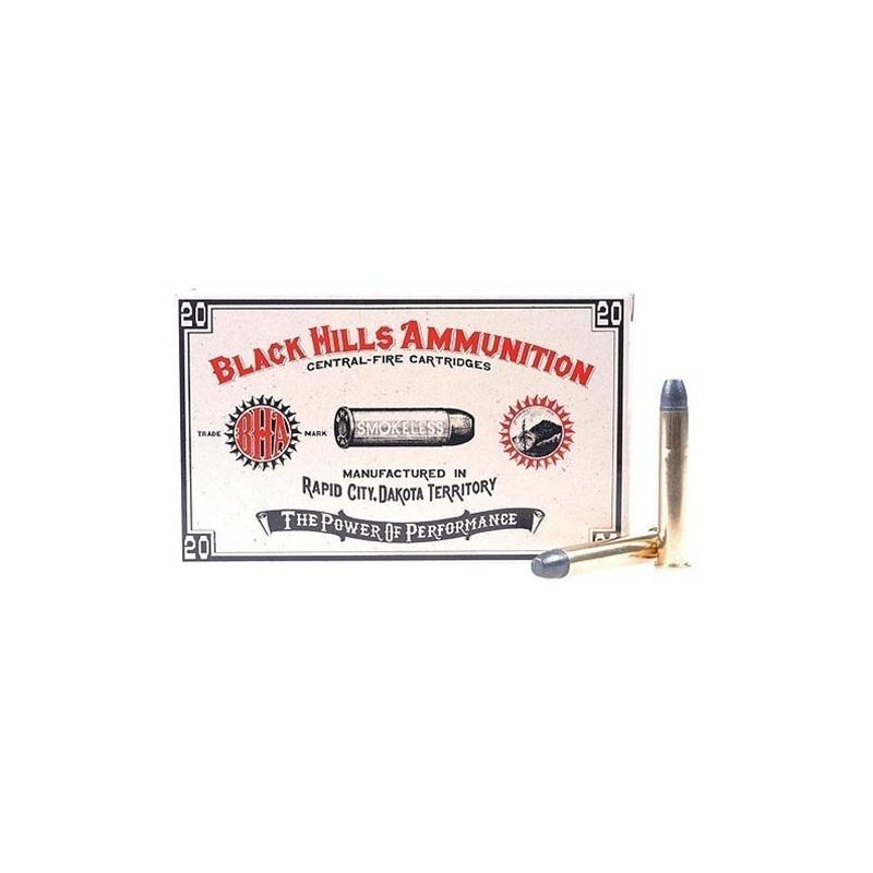 Black Hills Cowboy Action 38-55 WCF Ammo 255 Grain LFN