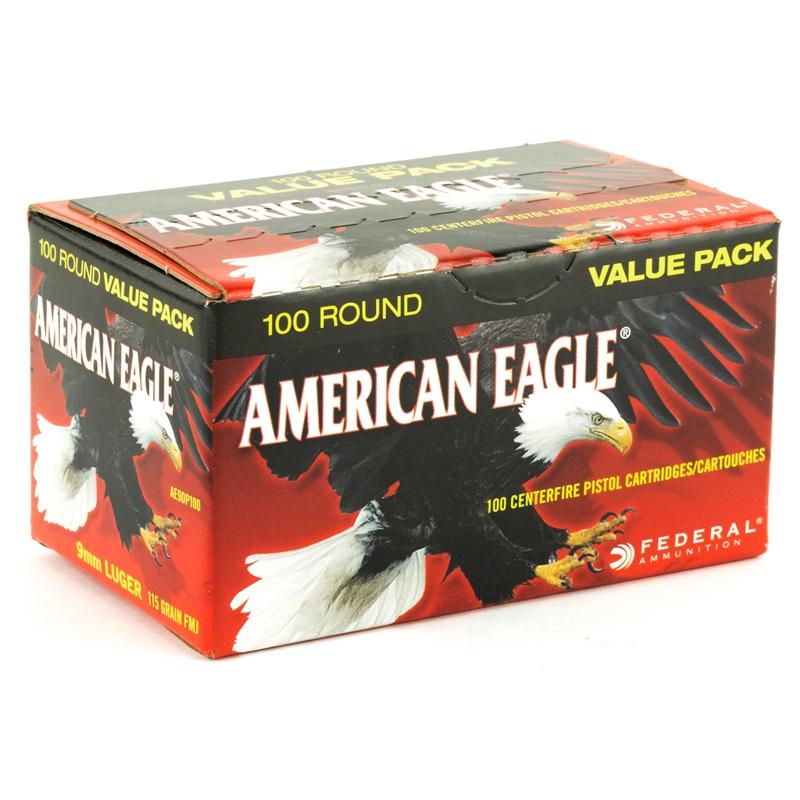 Federal American Eagle 9mm Luger 115 Grain FMJ Value Pack