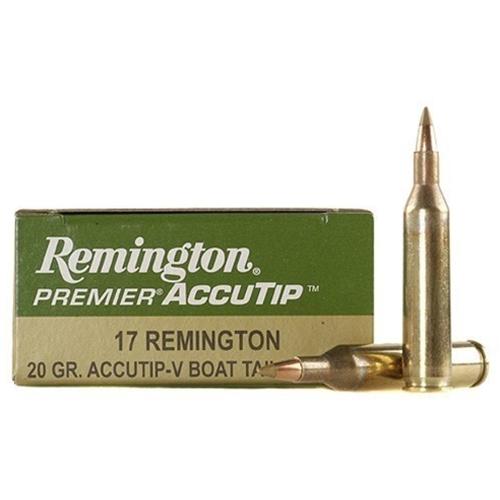 Remington Premier Varmint 17 Remington 20 Grain AccuTip Boat Tail