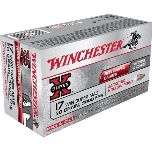 Winchester Super-X 17 WSM 20 Grain JHP