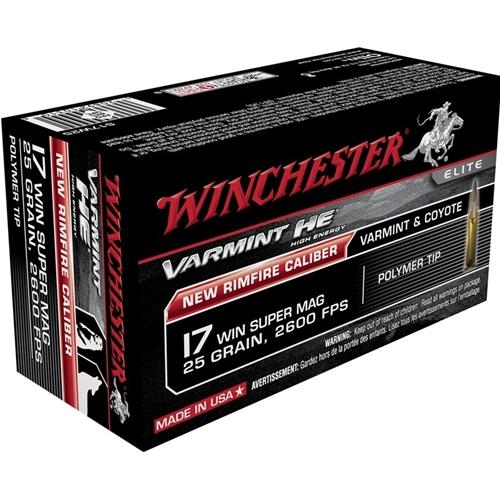 Winchester Varmint HE 17 WSM 25 Grain V-Max