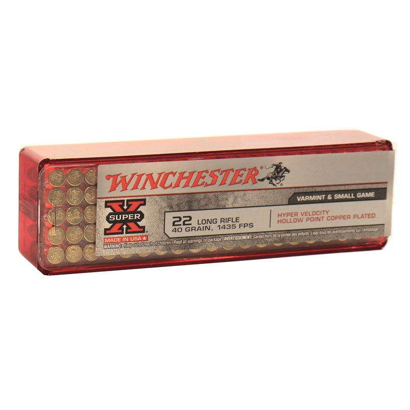 Winchester Hyper Speed 22 Long Rifle 40 Grain Plated Lead HP